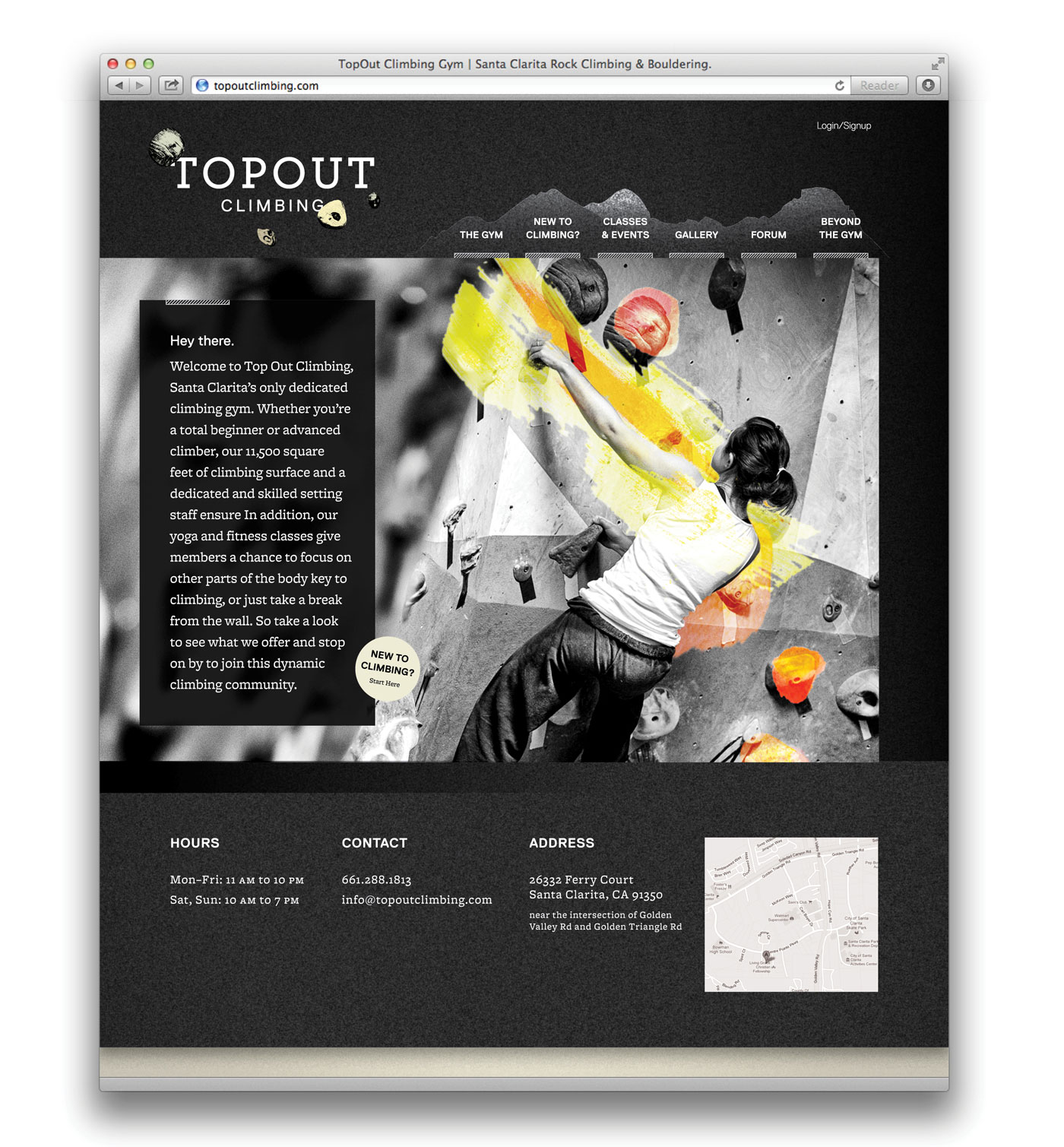 Top Out Climbing Homepage